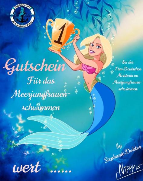 Meerjungfrauen Schwimmkurs Gutschein