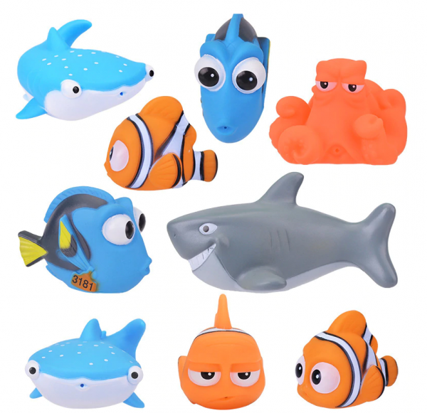 8 teiliges Bad Spielzeug