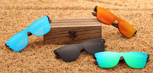 BARCUR Holz Sonnenbrille Männer