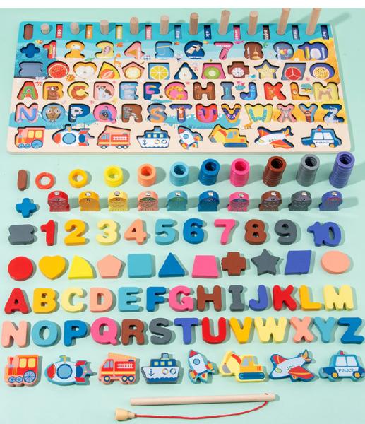 7 in 1 Montessori Pädagogisches Holz Spielzeug