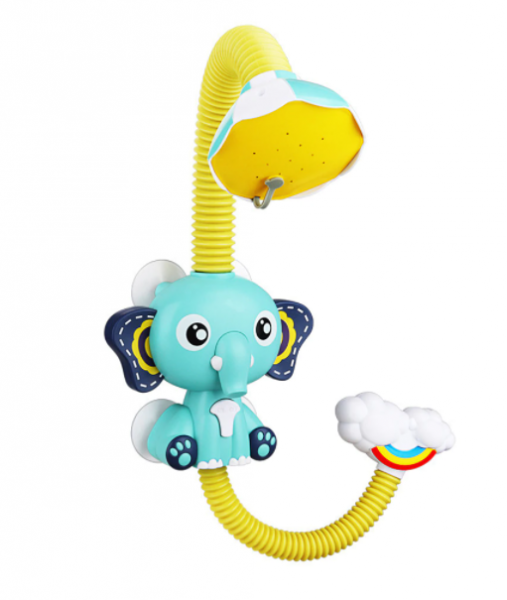 Baby Elefanten Wasserdusche