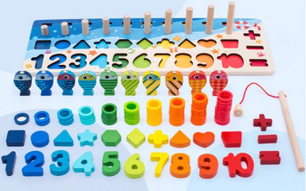 Pädagogisches Magnetisches Holz Spielzeug